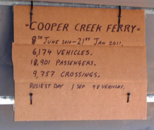 Ferry Stats sign